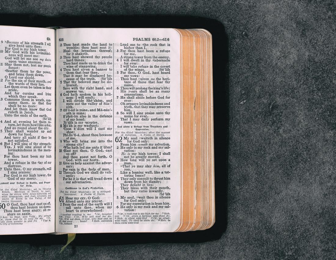 Pastor's scripture choice